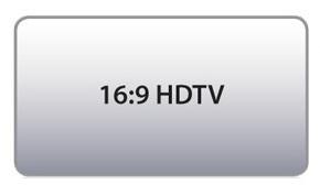 Formato de Projeção 16:9 HDTV