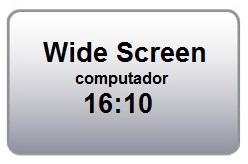 Formato de Projeção 16:10 Wide Screen